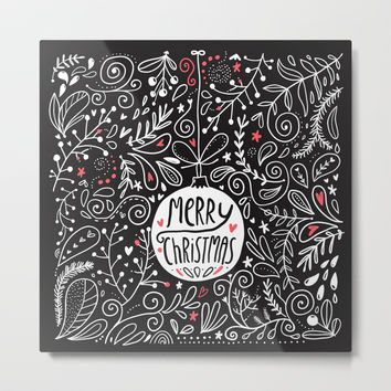 Merry Christmas doodles Metal Print by annaalexeeva