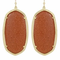 Danielle Earrings in Goldstone - Kendra Scott Jewelry
