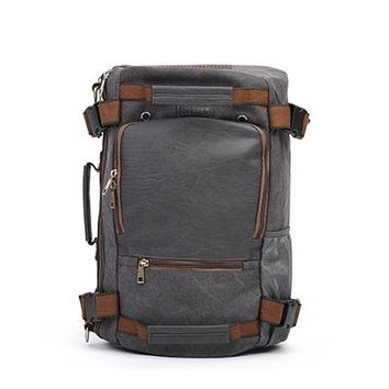 Boys Backpack Bag ECOSUSI Brand Men's  Canvas School Bags s Men Travel Bags Functional Laptop  Functional Shoulder Bags AT_61_4