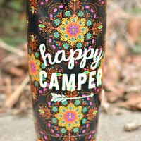 Natural Life Tumbler - Happy Camper