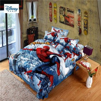 Cool disney marvel classic spider-man beddings 3d comforter single sets twin queen king size boy girl's gift duvet cover pillow casesAT_93_12