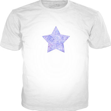 Lavender and white swirls doodles Star Classic T-Shirt White