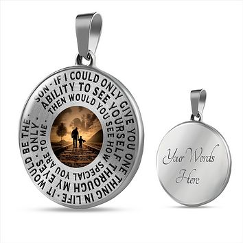 Son If I Could Only Give you - Father To Son Necklace