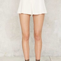 Jump Through Loops Lace-Up Shorts