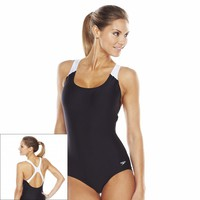 Speedo Xtralife Colorblock One-Piece Swimsuit - Women's