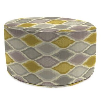 SUNBRELLA® Outdoor Round Pouf Ottoman in Empire Dawn