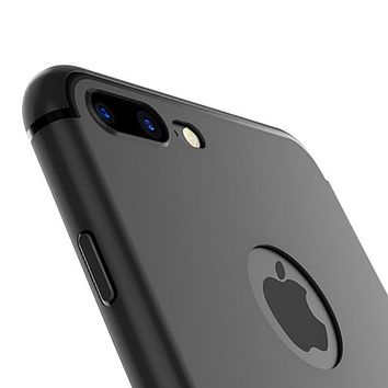 Slim Silicone Case for iphone 7 6 6s 5 5s Cover Coque Candy Colors Black Shell Soft PP Matte Phone Case for Apple iphone 7 plus