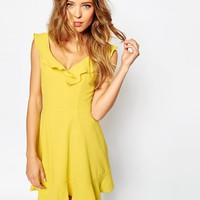 ASOS Skater Dress With Frill Detail