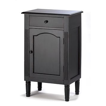 Antique Black Wood Cabinet