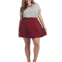 Scuba Skater Skirt | Wet Seal+
