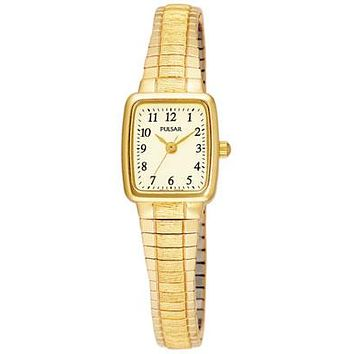 Pulsar Ladies Watch - Gold-Tone - Stretch Band