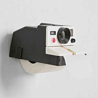 Polaroll Camera Toilet Paper Holder- Black & White One