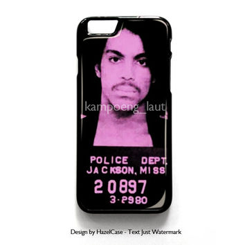 Prince Mugshot for iPhone 4 4S 5 5S 5C 6 6 Plus , iPod Touch 4 5  , Samsung Galaxy S3 S4 S5 Note 3 Note 4 , and HTC One X M7 M8 Case Cover