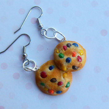 m&m candy cookie polymer clay french hook by ScrumptiousDoodle