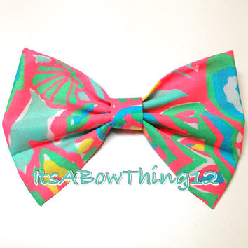 Lilly Pulitzer Summer Sandbar Blue Makes A Splash Bow