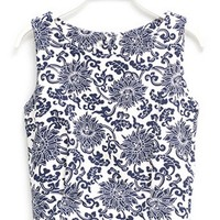 Vintage-Inspired Cropped Top - OASAP.com