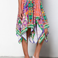 FESTIVE TRIBAL PRISM SWING SKIRT
