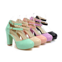 Fashion Sandals Pumps Platform High Heels Women Dress Shoes 6449