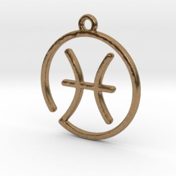 Pisces Zodiac Pendant by Jilub on Shapeways