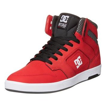 - NYJAH HI TOPS BY DC IN RED DARK GREY