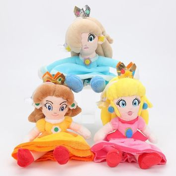 Super Mario party nes switch 20cm 8''  Princess Peach Daisy Rosalina Plush Toy Dolls For Kids Gift AT_80_8