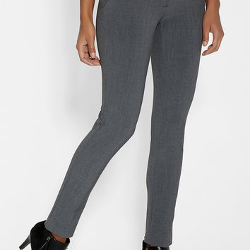 the smart ankle trouser with slimming technology in charcoal
