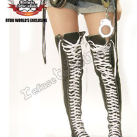 RTBU KEI JROCK THIGH-HIGH SNEAKER boots US 12 12.5 (43)