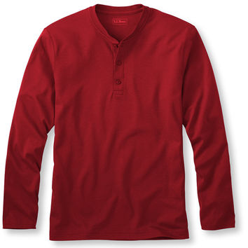 Pima, Traditional Fit Long-Sleeve Henley
