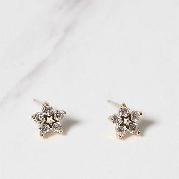 LA Hearts Faux Diamond Star Stud Earrings at PacSun.com