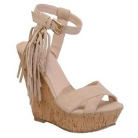 Nude Ella Wedge Sandal