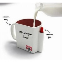 Novelty MEMO Mug with Message Board & Pen