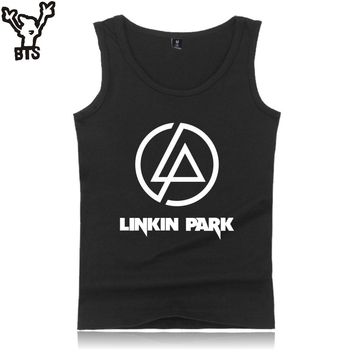 BTS LinKin Park Sleeveless Tank Top Men/Women Summer Casual Popular Singers Tank Top Men/Women Bodybuilding Great Rock Band Vest