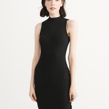 Womens Mock Neck Midi Dress | Womens Dresses & Rompers | Abercrombie.com