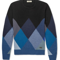 Burberry London - Patterned Cashmere Crew Neck Sweater | MR PORTER