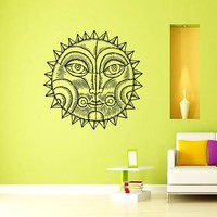 Wall Decal Vinyl Sticker Decals Art Home Decor Murals Sun Moon Crescent Dual Ethnic Stars Night Symbol Sunshine Tribal Flame Fire Bathroom Bedroom Dorm Decals AN65