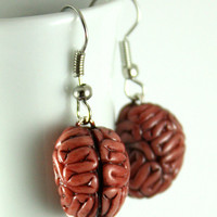 MMmmmm Brains Earrings, Jewelry, Handmade