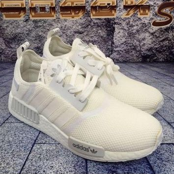 """Adidas"" Women Men Trending NMD Running Sports Shoes White"