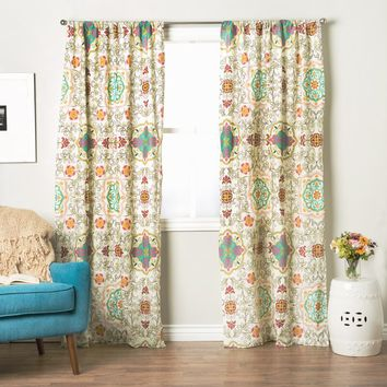 Greenland Home Fashions Esprit Spice 84-inch Curtain Panel Pair | Overstock.com Shopping - The Best Deals on Curtains