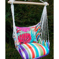 Colorful Palms Indoor/Outdoor Swing Chair
