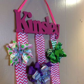 Personalized Custom Wood Girls Hair Bow Holder/ Hanger