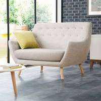 Poet Sofa, Grey Single Tone