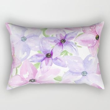 clematis vines Rectangular Pillow by Sylvia Cook Photography