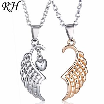 Stainless Steel Wings Necklace For Women Jewelry Valentine's Day Necklace For Girlfriend Lover Couple Gift Pendant Anniversary