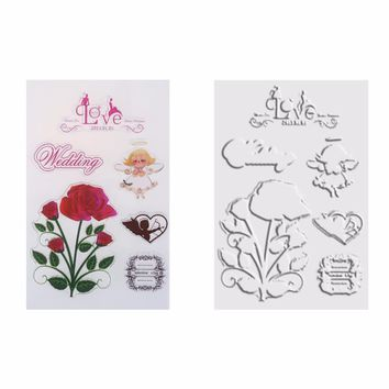 Silicone Clear Seal Stamp Cartoon Scrapbooking Stamps Sheet for DIY Album Dairy Decoration Transparent Stamps