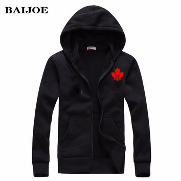 BAIJOE Fashion 2016 Autumn Winter Mens Hoodies Vintage Canada D2 DSQ Hoodie Sweatshirt Men  Hip Hop zipper Hooded Hombre