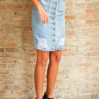 Portofino Denim Skirt