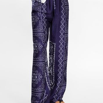 FLOWING WIDE-LEG TROUSERS