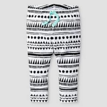 Baby Tribal Print Legging Cat & Jack™ - White/Black : Target