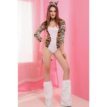 Pin Up Leopard Lady Women's Costume
