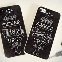 iPhone Case - Iphone 4 Case - iPhone 4s Case - iPhone 5 case - I Solemnly Swear Harry Potter - print on hard plastic
